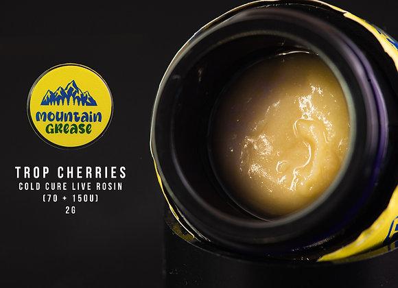 Tropicana Cherries 70 - 150u) Mountain Grease 2G Cold Cure Rosin