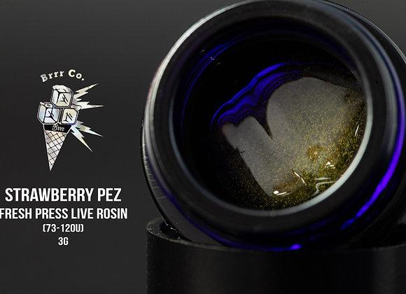 Strawberry Pez 73-120u (3g Fresh Press Live Rosin) - Brr.co