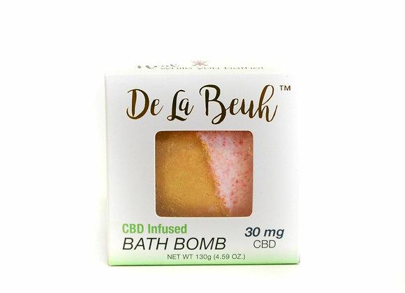 De La Beuh- Pink Champagne CBD Bath Bomb 30MG FAVORITE  SHARE