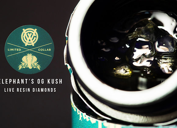 West Coast Alchemy X Elephant Growth - (2g) OG Kush Live Resin Diamonds