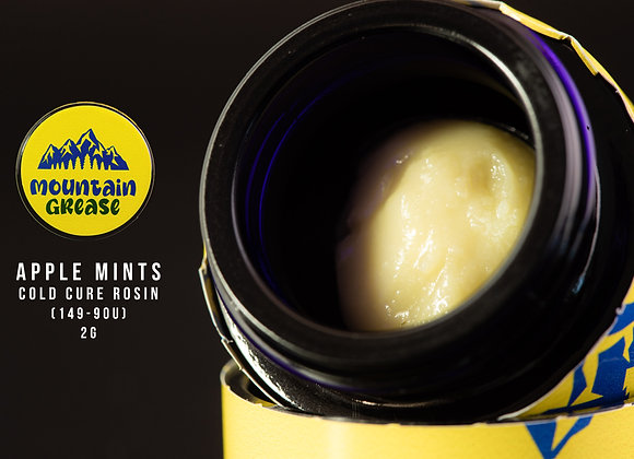 Apple Mints (Apple Fritter x Kush mints) 2g - Mountain Grease 149-90u Cold Cure
