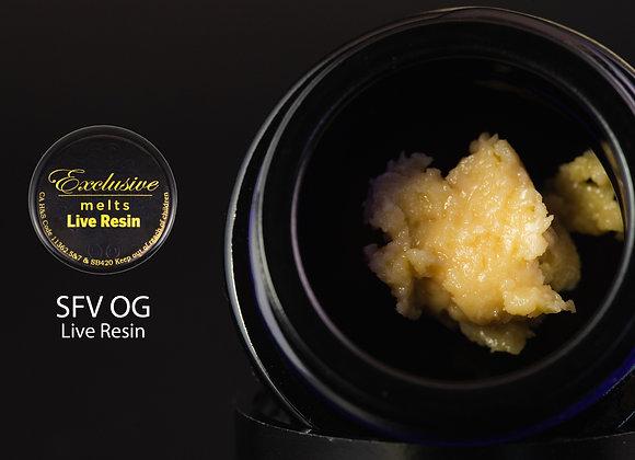 SFV OG  - Exclusive Melts Live Resin Badder 1 Gram