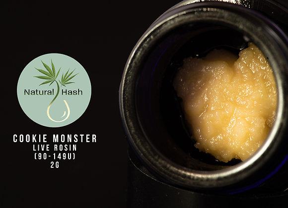 Cookies Monster (2g 149-90u Live Rosin) - Natural Hash