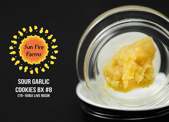 Sour Garlic Cookies BX #8 - Sun Fire Farms (2g Live Rosin)