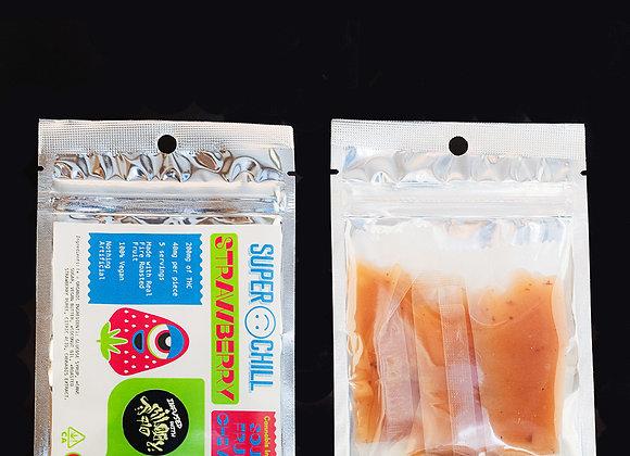Sour Strawberry Fruit Chews (200mg) - SuperChill