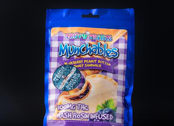 Munchables - Blueberry Peanut Butter HoneySandwhich