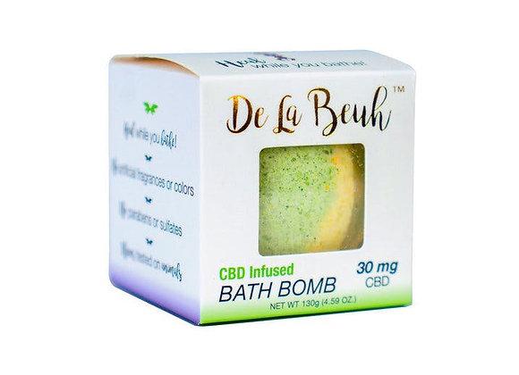 De La Beuh- Cederwood + Sandalwood CBD Bath Bomb 30mg
