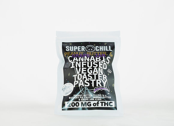 Super Chill - Peanut Butter and Grape Jam Pop Tarts (200mg) Powered By Orge