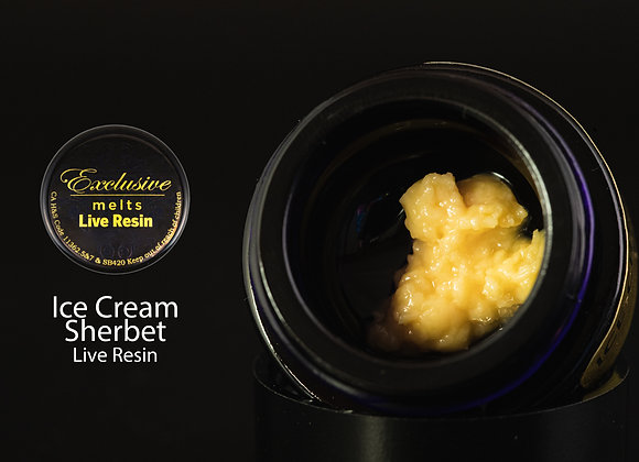 Ice Cream Sherbert - Exclusive Melts Live Resin Badder 1 Gram