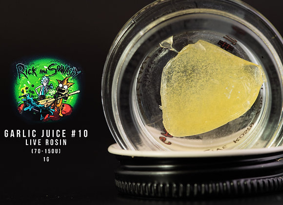 Rick & Squashy-  Garlic Juice #10  70-150 Single Source