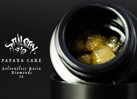 Trilogy -Papaya Cake (2g Jar) Solventless Diamonds