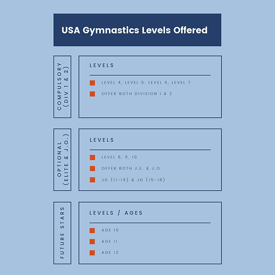 Boy's Gymnastics Levels