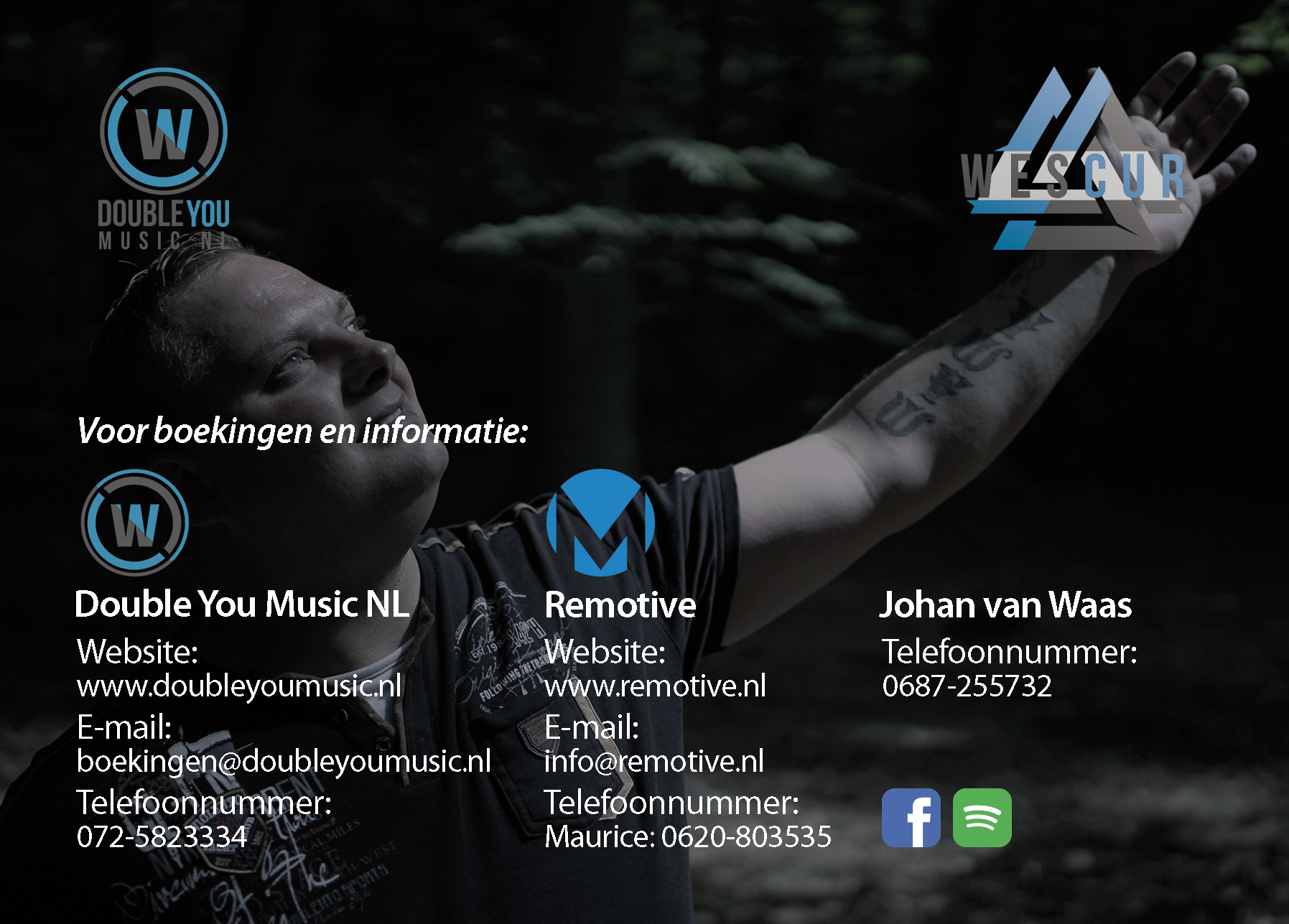 Double-You-Music-NL-Johan-van-Waas-Fotokaart-Achterkant