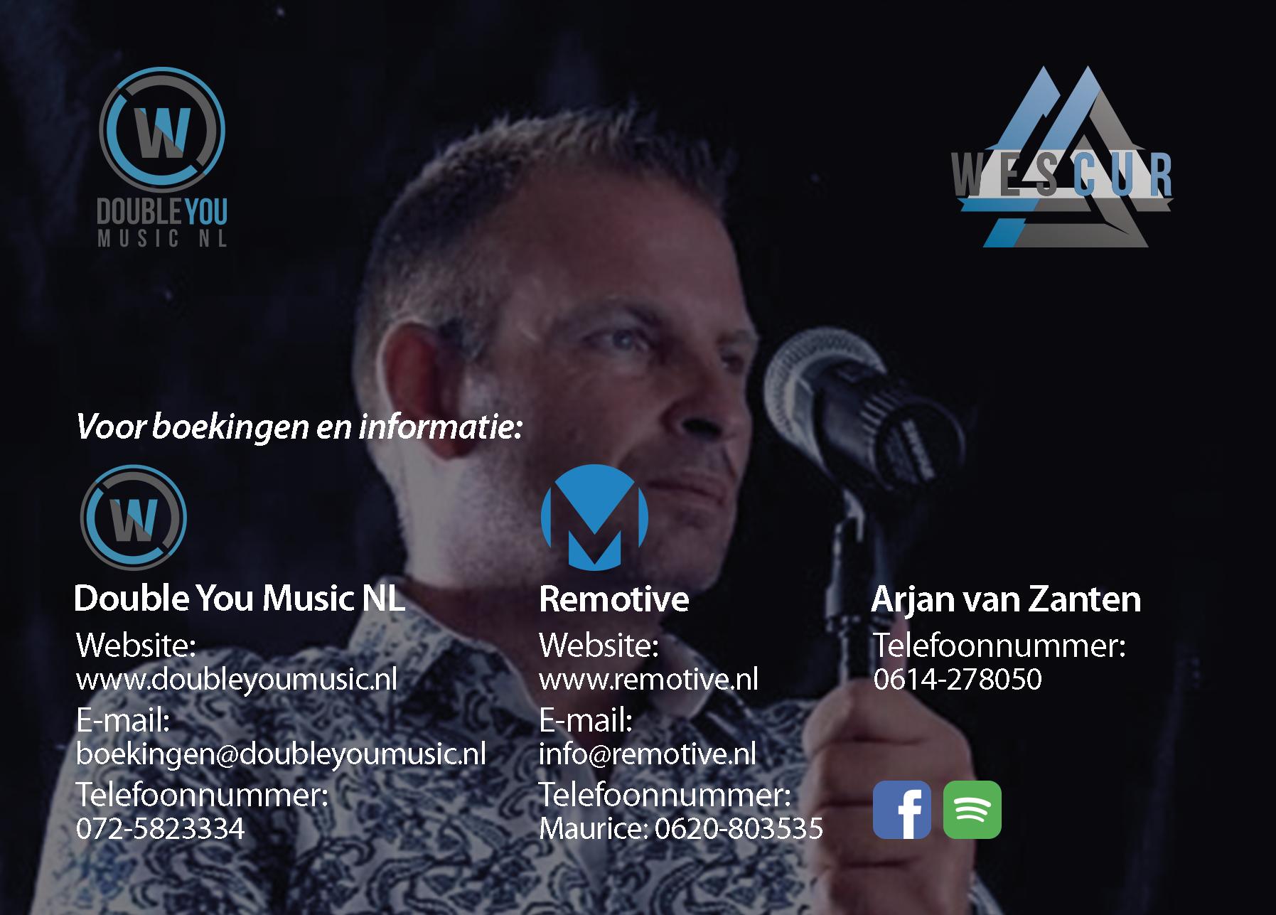 Double-You-Music-NL-Arjan-van-Zanten-Fotokaart-Achterkant
