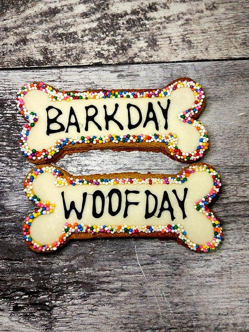 2 pack - Barkday / Woofday Bones
