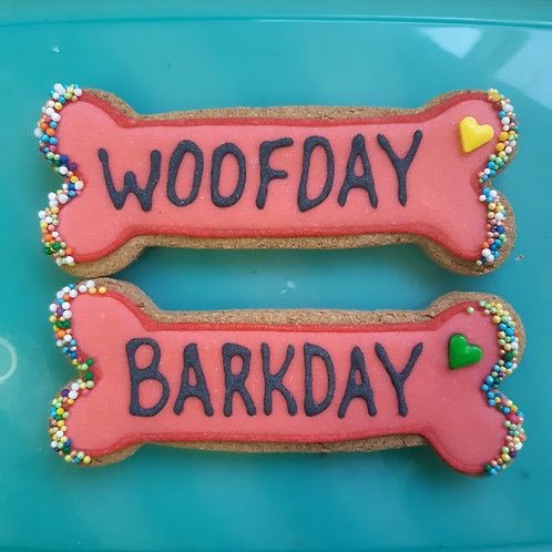 2 pack - Barkday / Woofday Bones