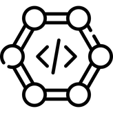 A cell with opened and closed HTML brackets in the middle.