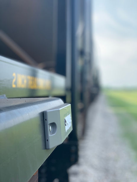 AEI Tag mounted to a railcar.