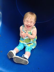Anna on slide