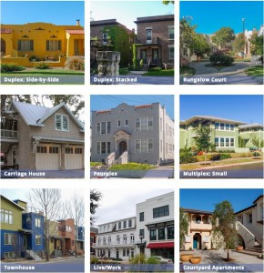 "Some of a wide variety of ""Missing Middle"" housing typologies"