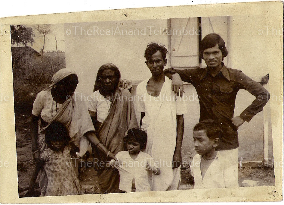 Anand's family at Rajur, Maharashtra