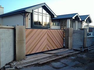 Cedar panelled entrace gate