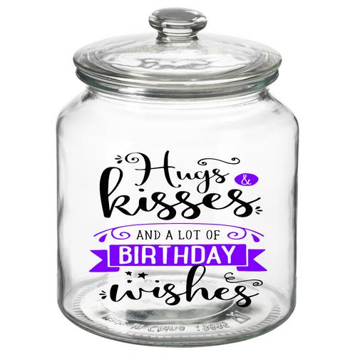 Hugs Kisses Birthday Wishes Cookie Jar