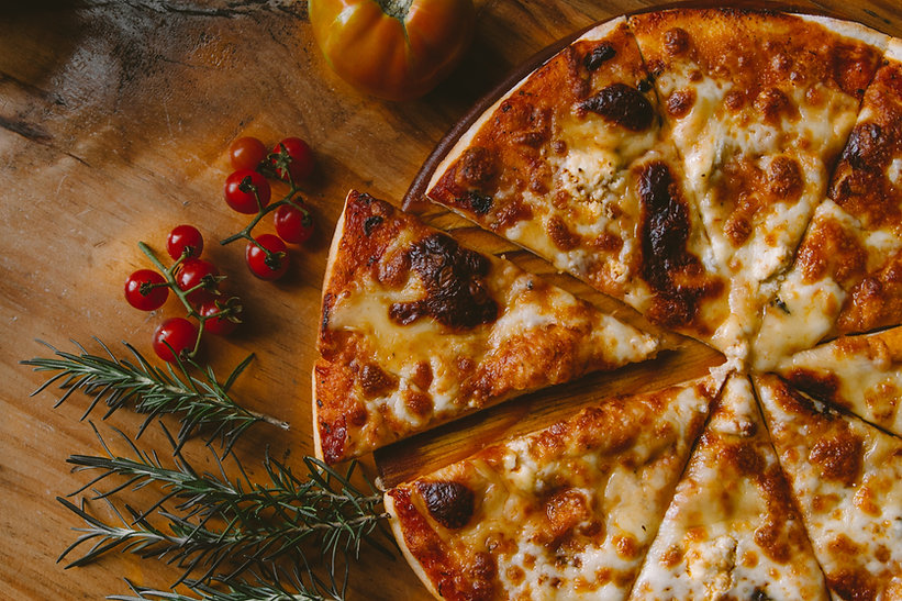 Buffete de pizzas para fiestas