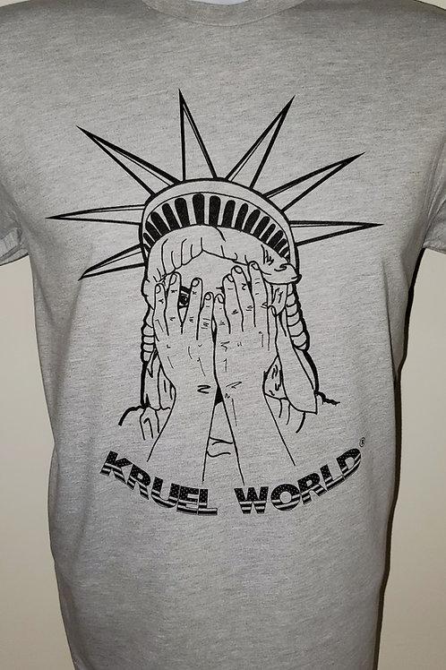 """Kruel World """"Liberty Face Palm"""" T Shirt"""
