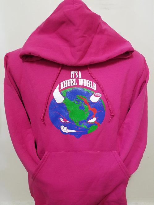 Kruel World Pink Globe Hoodie