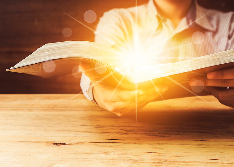 Close Up Of A Man Holding Holy Bible Wit