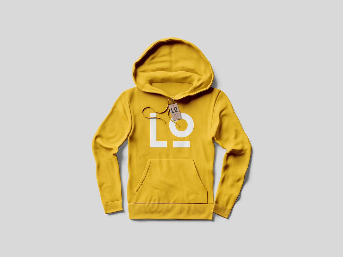 Logo concept for Willow Smith on a yellow hoodie