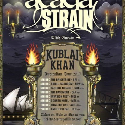 The Acacia Strain X Kublai Khan Tour