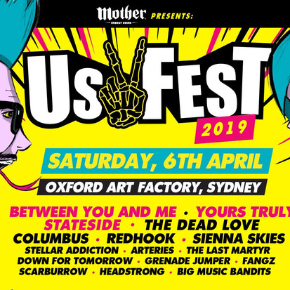 Us Fest Announced -Yours Truly X Between You And Me X Columbus X RedHook + Way More!!!!
