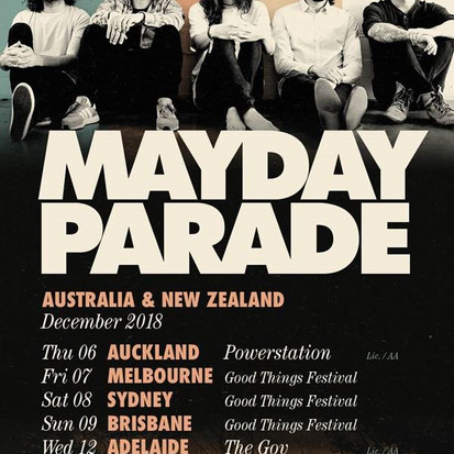 MAYDAY PARADE ANNOUNCE AUSTRALIA & NEW ZEALAND TOUR FOR DECEMBER
