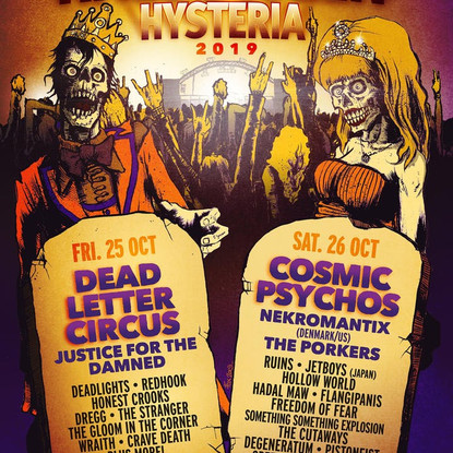 "Hysteria Mag Announce Lineup For ""Halloween Hysteria"" Featuring Dead Letter Circus, Cosmic"