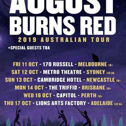 "August Burns Red - Announce 10 Years Of ""Constellations"" 2019 Australian Tour"