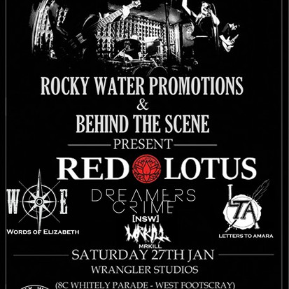 Rocky Water Promotions & Behind The Scene Present - RED LOTUS X WORDS OF ELIZABETH X DREAMERS CR