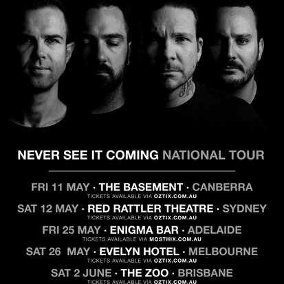 LIKE THIEVES - drop new single 'Never See It Coming' + Announce National Tour!