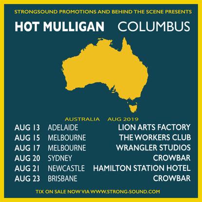Hot Mulligan & Columbus Announce Co-Headline Australian 2019 Tour