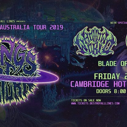 Rings Of Saturn X Hollow World X Eternal Rest X Blade Of Horus @ The Cambridge Hotel [Gig Report]