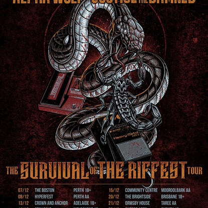 Alpha Wolf X Justice For The Damned - ANNOUNCE - The Survival Of The Riffest Tour