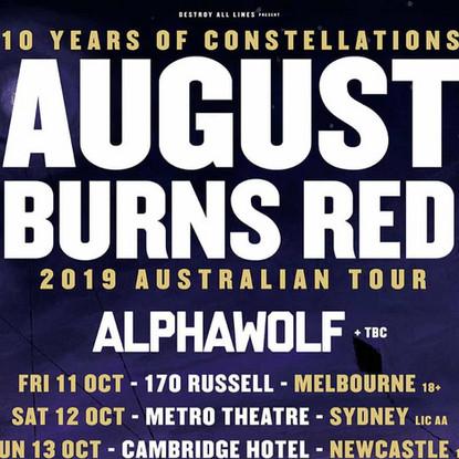 AUGUST BURNS RED x ALPHA WOLF x GRAVEMIND @ The Triffid, Brisbane