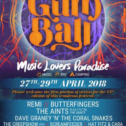 THE GUM BALL 2017 - First Artist Announcement