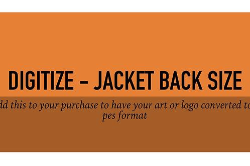 Digitize Jacket Back Size