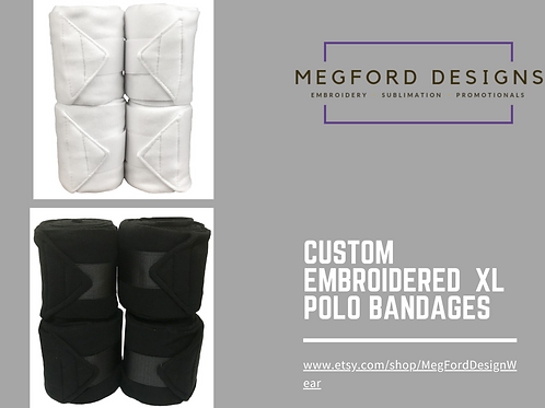 Custom Embroidered XL Polo Bandages
