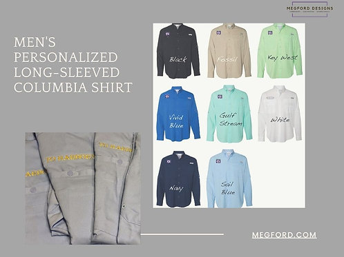 Men's Personalized Long-Sleeved Columbia Shirt