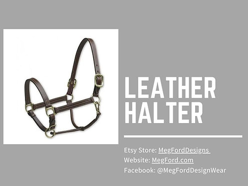 Camelot Leather Halter