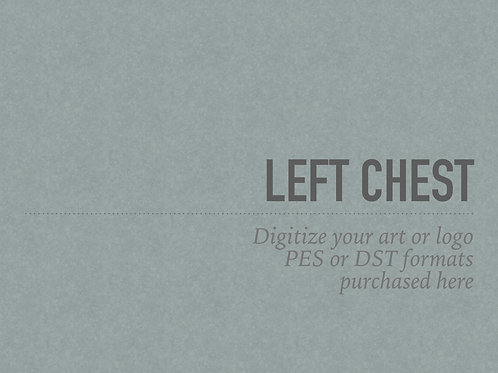Digitize - Left Chest and Saddle Pad size