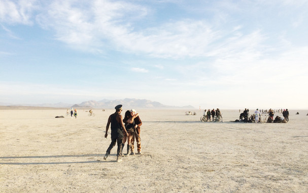Wake up and dance - Deep playa, Burning Man